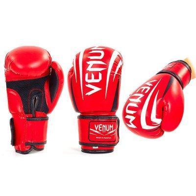 Перчатки боксерские Venum MA-5315-R красный  размер 12 унц. (реплика)