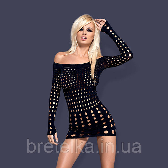 Сексуальное платье, рокерское платье черный Obsessive