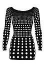Сексуальное платье, рокерское платье черный Obsessive, фото 3