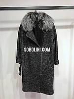 Пальто с мехом Helen на молнии в шоу руме Харьков, фото 1