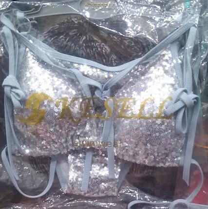 Купальник шторка Супер 5688 серебро на наши 46 48  размеры., фото 2