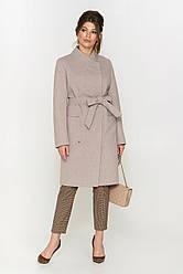 Элегантное приталенное пальто с ассиметричной застежкой  Венеция Разные цвета