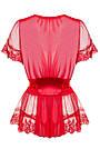 Халат женский короткий полупрозрачный красный со стрингами Obsessive 870, фото 5