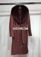 Примерка пальто с мехом песца Melanie, фото 1
