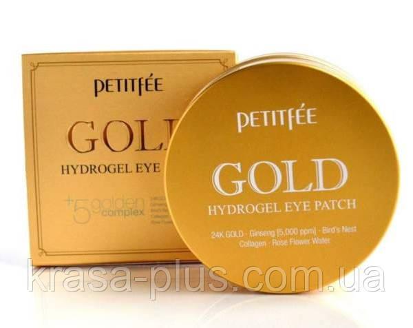 Гидрогелевые патчи под глаза с золотым комплексом и экстрактами PETITFEE +5 Gold Hydrogel Eye Patch