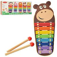 Деревянная игрушка Ксилофон Животные