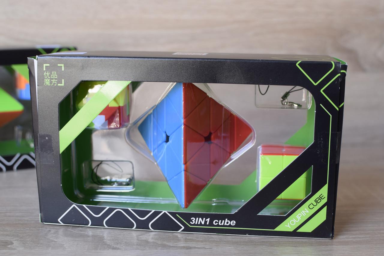 Набір Піраміда Youpin Meffert's Pyraminx головоломка, 2 брелки, в подарунковій коробці