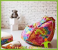 Кресло-мешок Пуф Груша з малюнком Enjoy
