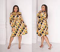 Платье женское  цветное батал, фото 1