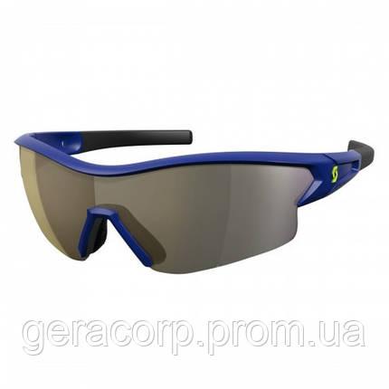 Спортивные очки SCOTT LEAP  blue gold chrome + Прозрачное, фото 2