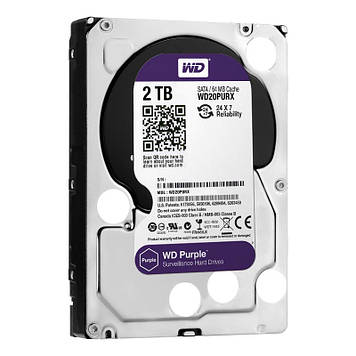 Жесткий диск 3.5 WD Purple 2TB (WD20PURZ)
