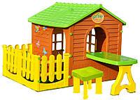 Великий ігровий будиночок з огорожою + стіл зі стільцями, фото 1
