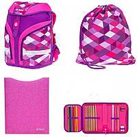 Рюкзак Herlitz Motion Plus Pink Cubes Кубики розовые школьный ортопедический ранец