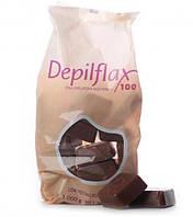Горячий воск для депиляции DepilFlax, 1 кг с красным вином