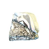 Одеяло-плед двуспальное 175/210 холлофайбер, ткань микрофибра, иск. велюр