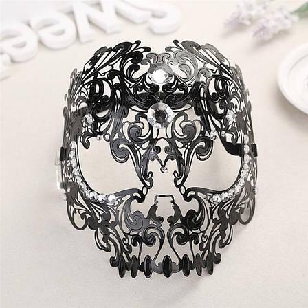 Женская карнавальная маска, Изящная металлическая маска на Хэллоуин, фото 2