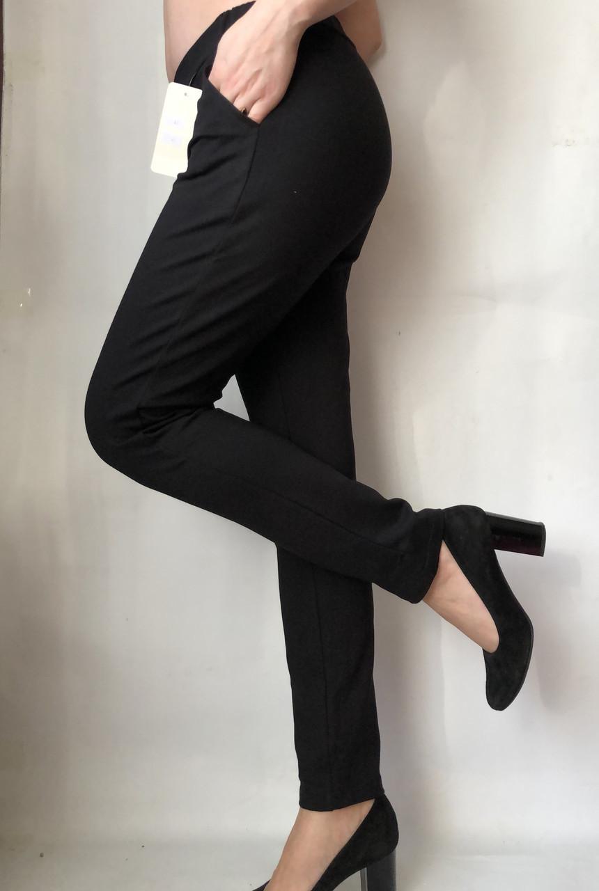 Женские брюки из трикотажа № 63 черные
