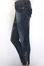 джинси жіночі Philipp Plein з стразами і принтами, фото 2