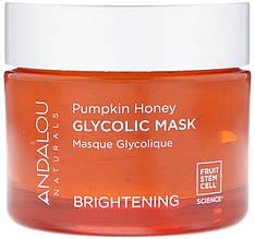 """Гликолевая маска Andalou Naturals """"Glycolic Mask"""" осветляющая с тыквой и медом (50 мл)"""