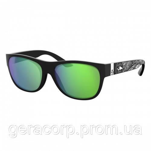 Спортивные очки SCOTT LYRIC black matt/white green chrome