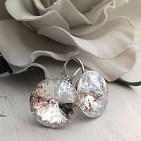 Сережки с оригинальными кристаллами Сваровски