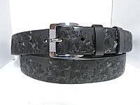 Женский Брючный кожаный ремень 3.5 см Черный