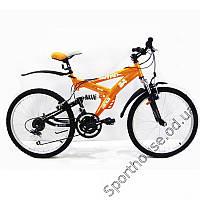 """Горный подростковый двухподвесный велосипед Azimut Wind 24"""" GD"""