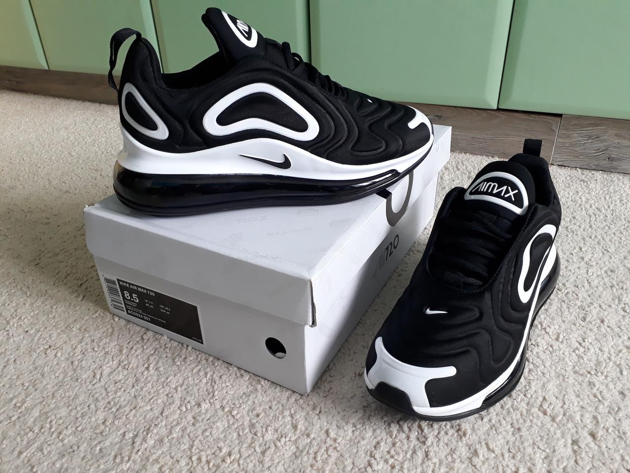 d4475a41a7e0f6 Мужские кроссовки Nike Air Max 720 Black/White черные белые - sinitsa_shop  - интернет-