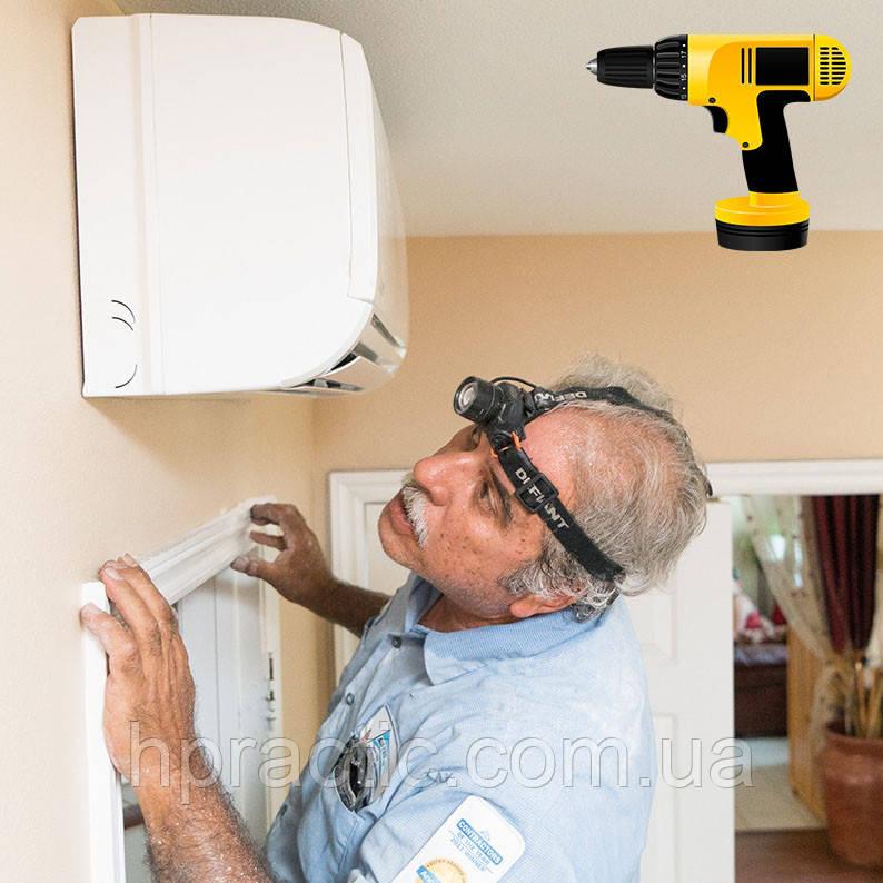 Монтаж настенного дефлектора для кондиционера
