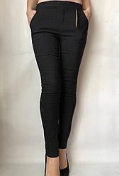 Коттоновые брюки  № 63 черные