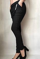 Коттоновые брюки  № 63 черные, фото 2