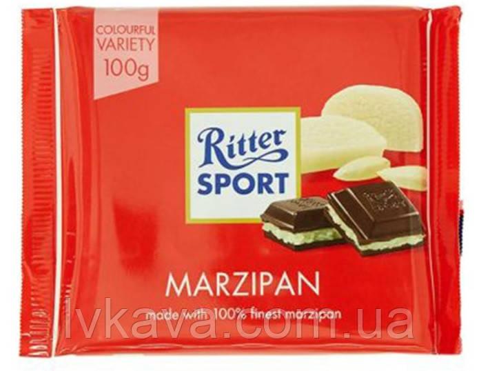 Черный шоколад  Ritter Sport  Marzipan , 100 гр