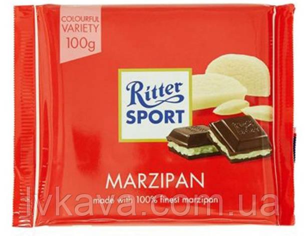 Черный шоколад  Ritter Sport  Marzipan , 100 гр, фото 2