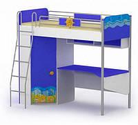 Серия «Ocean» Кровать-чердак со шкафом BRIZ