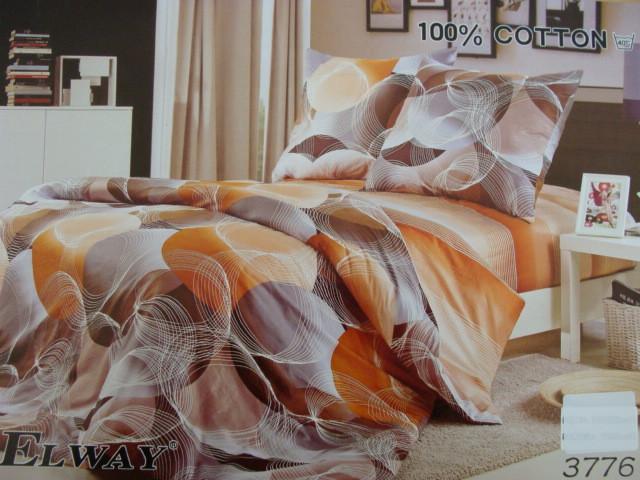 Сатиновое постельное белье семейное ELWAY 825
