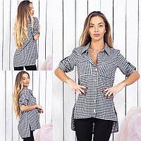 Женская рубашка в клетку / котон / Украина 15-339, фото 1