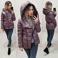 Розпродаж!!! Демісезонна куртка ковдру Oversize, арт М523, колір ліловий, фото 1