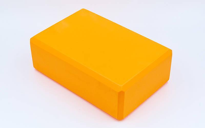 Блок для йоги (EVA 75гр, р-р 23 x 15,5 x 7,5см). Распродажа! Оптом и в розницу!