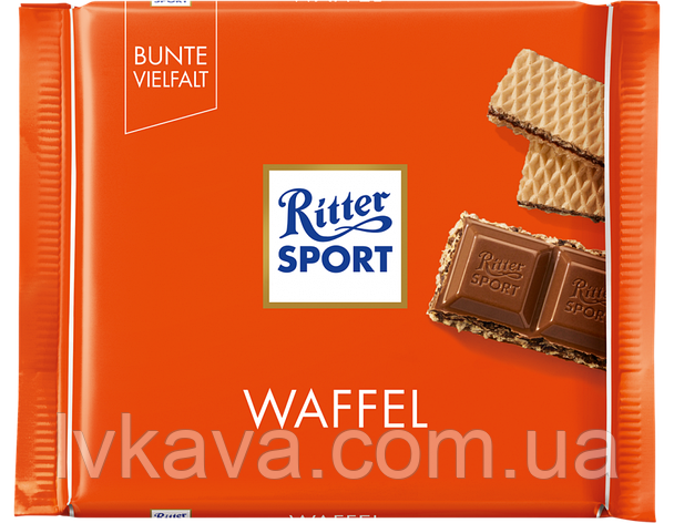 Молочный шоколад  Ritter Sport Waffel , 100 гр, фото 2