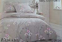 Сатиновое постельное белье семейное ELWAY 3635