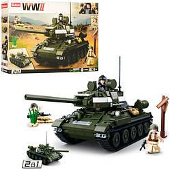 """Конструктор Sluban M38-B0689 """"Танк 2 в 1"""" з серії """"Армія"""" 687 деталей"""