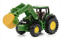 Трактор John Deere с захватом для тюков, Siku