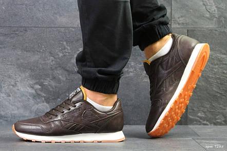 Мужские кроссовки Reebok Classic,кожаные,коричневые, фото 2