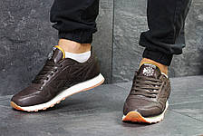 Мужские кроссовки Reebok Classic,кожаные,коричневые, фото 3