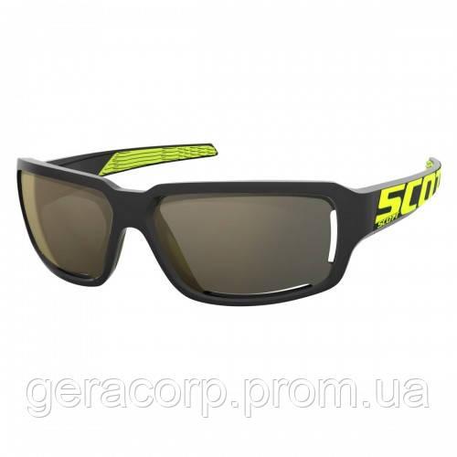 Спортивные очки SCOTT OBSESS ACS black/neon yellow gold chrome