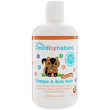 "Детский шампунь без слез Mild By Nature ""Shampoo & Body Wash"" с ароматом персика (380 мл)"