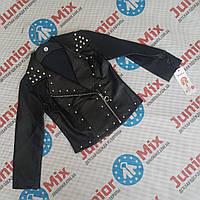 Оптом детские куртки для девочек из кожзама оптом Feshion, фото 1