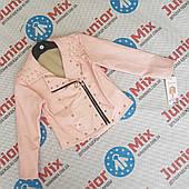 Оптом детские куртки для девочек из кожзама оптом Feshion