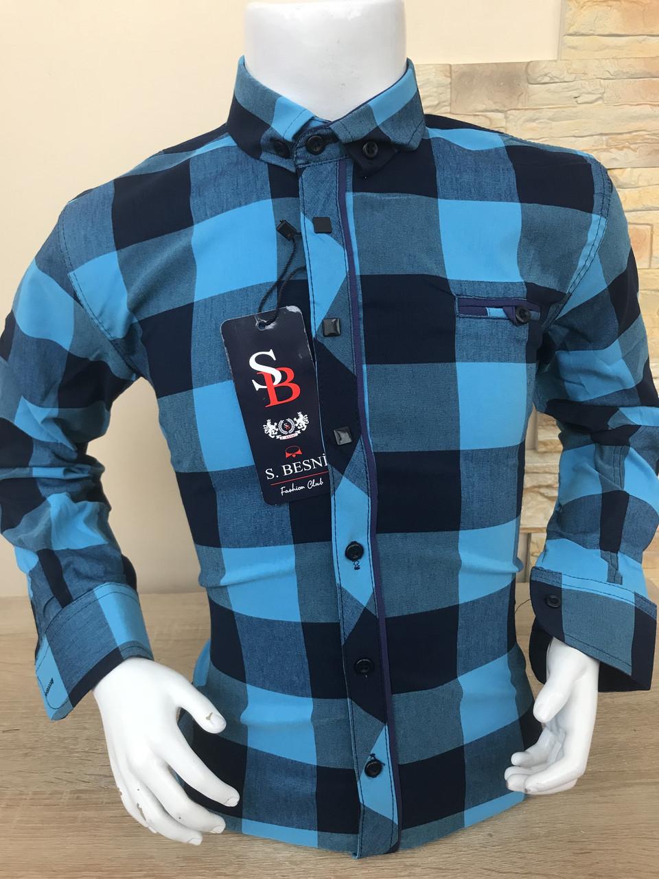 Детская рубашка Sinyor Besni 2-7 в клетку