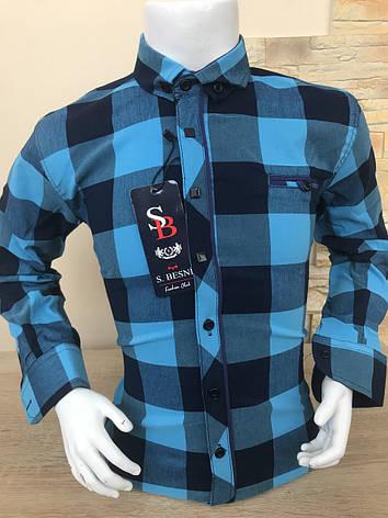 Детская рубашка Sinyor Besni 2-7 в клетку, фото 2